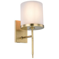 Urban Classic by Elegant Lighting Bradford 1 Light Wall Sconce in Burnished Brass 1504W6BB