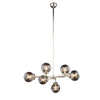 Elegant Lighting 1507G36PN Leda 6 Light 36 inch Polished Nickel Pendant Ceiling Light Urban Classic