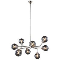 Elegant Lighting 1507G44PN Leda 8 Light 44 inch Polished Nickel Pendant Ceiling Light Urban Classic