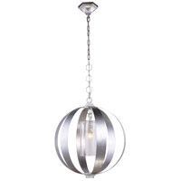 Serenity 1 Light 21 inch Vintage Silver Leaf Pendant Ceiling Light, Urban Classic