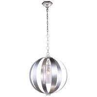Elegant Lighting 1508D21SL Serenity 1 Light 21 inch Vintage Silver Leaf Pendant Ceiling Light Urban Classic