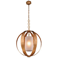 Serenity 1 Light 30 inch Golden Iron Pendant Ceiling Light, Urban Classic