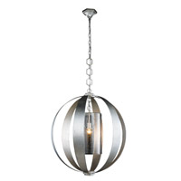 Serenity 1 Light 30 inch Vintage Silver Leaf Pendant Ceiling Light, Urban Classic