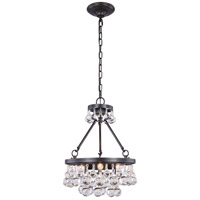 Elegant Lighting 1509D15BZ Bettina 3 Light 15 inch Bronze Pendant Ceiling Light Urban Classic