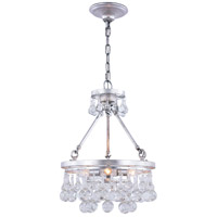 Elegant Lighting 1509D15SL Bettina 3 Light 15 inch Silver Leaf Pendant Ceiling Light Urban Classic