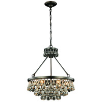 Elegant Lighting 1509D22BZ Bettina 6 Light 22 inch Bronze Pendant Ceiling Light Urban Classic