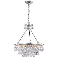Elegant Lighting 1509D22PN Bettina 6 Light 22 inch Polished Nickel Pendant Ceiling Light Urban Classic