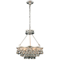 Elegant Lighting 1509D22SL Bettina 6 Light 22 inch Silver Leaf Pendant Ceiling Light Urban Classic