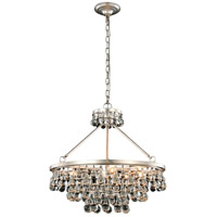 Elegant Lighting 1509D26SL Bettina 8 Light 26 inch Silver Leaf Pendant Ceiling Light Urban Classic