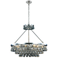Elegant Lighting 1509D32PN Bettina 10 Light 32 inch Polished Nickel Pendant Ceiling Light Urban Classic