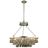 Bettina 10 Light 32 inch Silver Leaf Pendant Ceiling Light, Urban Classic