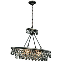 Elegant Lighting 1509D34BZ Bettina 4 Light 10 inch Bronze Pendant Ceiling Light Urban Classic