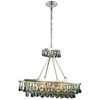 Elegant Lighting 1509D34PN Bettina 4 Light 10 inch Polished Nickel Pendant Ceiling Light Urban Classic