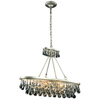 Elegant Lighting 1509D34SL Bettina 4 Light 10 inch Silver Leaf Pendant Ceiling Light Urban Classic
