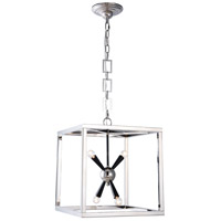 Elegant Lighting 1510D16PN Lexy 4 Light 16 inch Polished Nickel and Flat Black Pendant Ceiling Light, Urban Classic