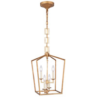 Elegant Lighting 1512D12GI Denmark 4 Light 12 inch Golden Iron Pendant Ceiling Light, Urban Classic