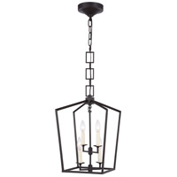 Denmark 4 Light 12 inch Vintage Bronze Pendant Ceiling Light, Urban Classic