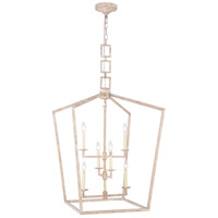 Elegant Lighting 1512D24IW Denmark 6 Light 24 inch Ivory Wash Chandelier Ceiling Light Urban Classic