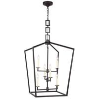 Elegant Lighting 1512D24VB Denmark 6 Light 24 inch Vintage Bronze Chandelier Ceiling Light Urban Classic