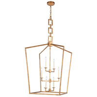 Elegant Lighting 1512D29GI Denmark 6 Light 29 inch Golden Iron Chandelier Ceiling Light Urban Classic