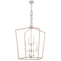 Elegant Lighting 1512D29IW Denmark 6 Light 29 inch Ivory Wash Chandelier Ceiling Light Urban Classic
