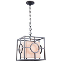 Elegant Lighting 1513D16BZ Quatro 1 Light 16 inch Bronze Pendant Ceiling Light Urban Classic Cream Exotic Paper