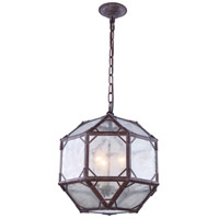 Elegant Lighting 1514D14SR Gordon 3 Light 14 inch Saddle Rust Pendant Ceiling Light Urban Classic