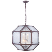 Elegant Lighting 1514D19SR Gordon 4 Light 19 inch Saddle Rust Pendant Ceiling Light Urban Classic