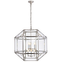 Gordon 6 Light 24 inch Polished Nickel Chandelier Ceiling Light, Urban Classic