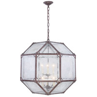 Elegant Lighting 1514D24SR Gordon 6 Light 24 inch Saddle Rust Chandelier Ceiling Light, Urban Classic