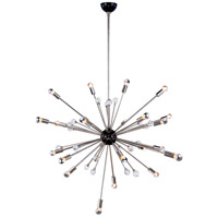 Nebula 24 Light 42 inch Bronze and Polished Nickel Chandelier Ceiling Light, Urban Classic, Royal Cut Clear Crystal