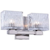 Torrent 2 Light 12 inch Burnished Nickel Vanity Wall Light, Urban Classic, Clear Glass