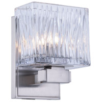Torrent 1 Light 5 inch Burnished Nickel Vanity Wall Light, Urban Classic, Clear Glass