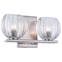 Monticello 2 Light 11 inch Burnished Nickel Vanity Wall Light, Urban Classic, Clear Glass