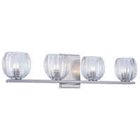 Monticello 4 Light 25 inch Burnished Nickel Vanity Wall Light, Urban Classic, Clear Glass
