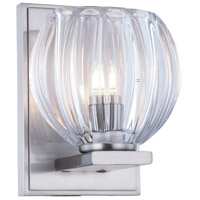 Monticello 1 Light 5 inch Burnished Nickel Vanity Wall Light, Urban Classic, Clear Glass