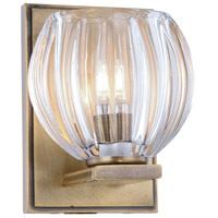 Monticello 1 Light 5 inch Light Antique Brass Vanity Wall Light, Urban Classic, Clear Glass