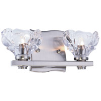 Terpin 2 Light 12 inch Burnished Nickel Vanity Wall Light, Urban Classic, Clear Glass