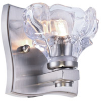 Terpin 1 Light 5 inch Burnished Nickel Vanity Wall Light, Urban Classic, Clear Glass