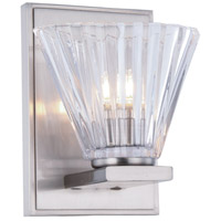 Oslo 1 Light 5 inch Burnished Nickel Vanity Wall Light, Urban Classic, Clear Glass