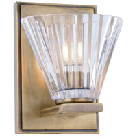 Oslo 1 Light 5 inch Light Antique Brass Vanity Wall Light, Urban Classic, Clear Glass