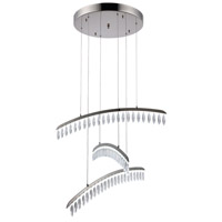 Elegant Lighting 1522D31PN/SS Marquesa LED 31 inch Polished Nickel Chandelier Ceiling Light, Urban Classic