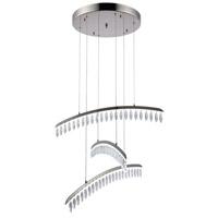 Elegant Lighting 1522D31PN/SS Marquesa LED 31 inch Polished Nickel Chandelier Ceiling Light Urban Classic