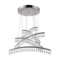 Elegant Lighting 1522G32PN/SS Marquesa LED 31 inch Polished Nickel Chandelier Ceiling Light Urban Classic