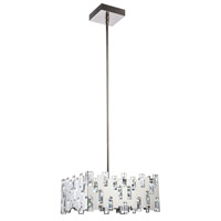 Elegant Lighting 1523D20PN/SS Crest LED 20 inch Polished Nickel Chandelier Ceiling Light, Urban Classic