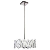 Elegant Lighting 1523D20PN/SS Crest LED 20 inch Polished Nickel Chandelier Ceiling Light Urban Classic