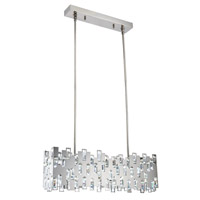 Elegant Lighting 1523G36PN/SS Crest LED 8 inch Polished Nickel Chandelier Ceiling Light Urban Classic