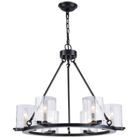 Monterey 6 Light 28 inch Bronze Chandelier Ceiling Light, Urban Classic, Clear Glass