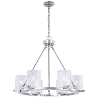 Monterey 6 Light 28 inch Polished Nickel Chandelier Ceiling Light, Urban Classic, Clear Glass