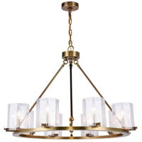Monterey 8 Light 33 inch Burnished Brass Chandelier Ceiling Light, Urban Classic, Clear Glass